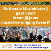 Nationale Muziekloterij gaat door